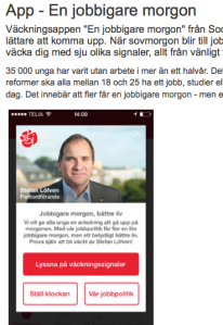 Skärmbild socialdemokraterna.se